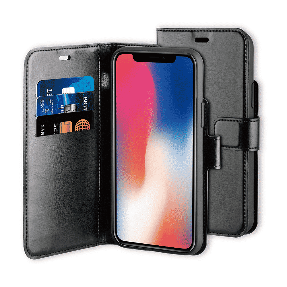 BeHello iPhone 11 Pro Gel Wallet Case Black