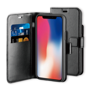 BeHello iPhone 11 Pro Max Gel Wallet Case Black