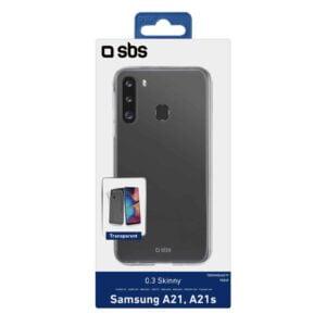 Samsung Galaxy A21/A21s Maskica SKINNY - Transparentna