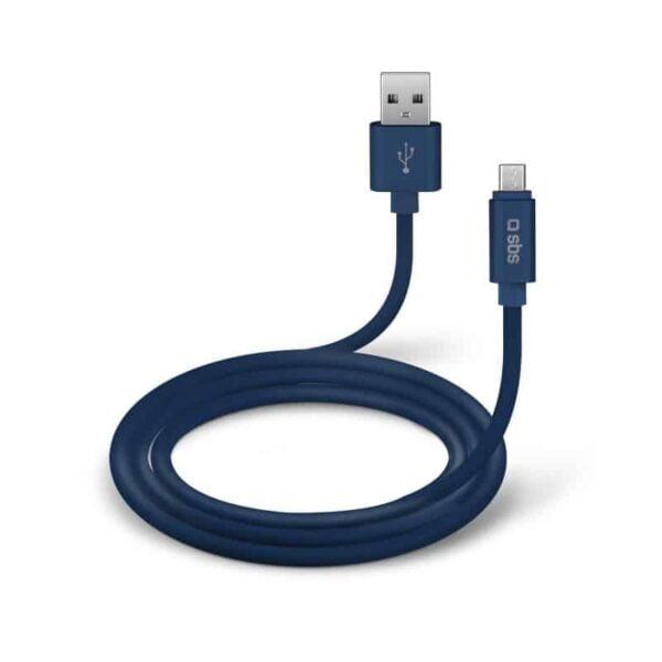 USB Kabel na Micro-USB POLO COLLECTION - Plavi