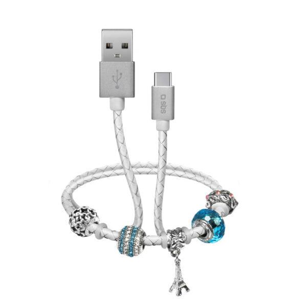 USB 2.0 Kabel na Type-C SMART&LADIES narukvica 39cm