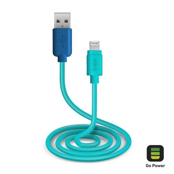 USB 2.0 Kabel na MFI Lightning GO POWER POP 1m