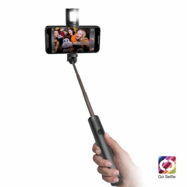 Teleskopski držač za smartphone na štapu GO SELFIE sa blicom