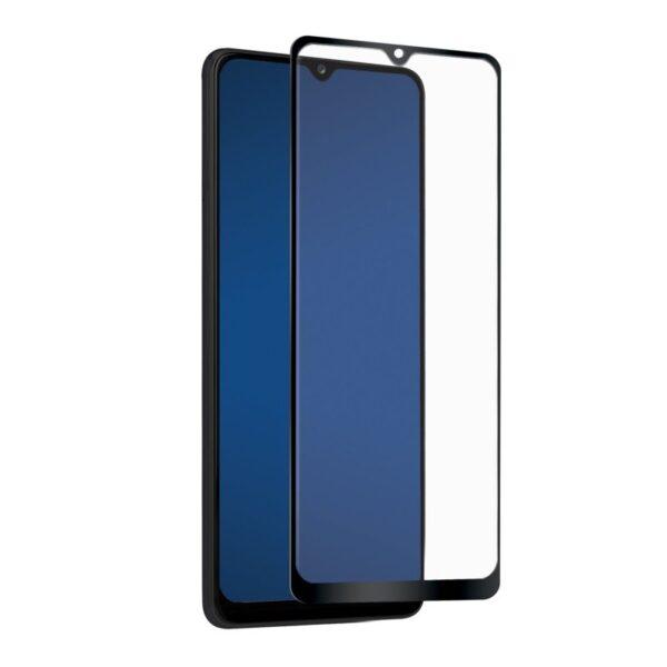 Samsung Galaxy A02s Temperirano Staklo s rubom - Crno