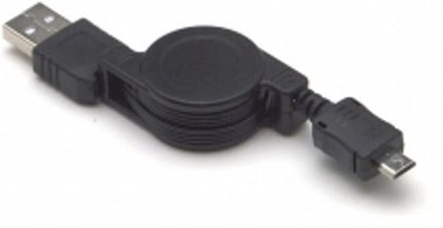 USB 2.0 Kabel RETRACTABLE Micro-USB 0.8m