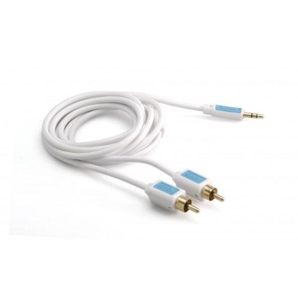 Audio Kabel BOXLINE 3.5mm Jack na 2xRCA 2.5m pozlaćeni konektori